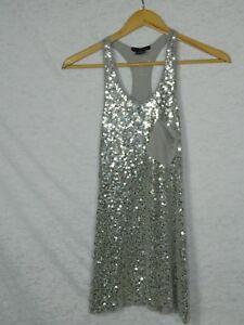 2579b78cd84 Flower By Zoe Girl s Dress Grey Sequin Sleeveless Dress Size Medium ...