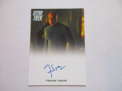 FB 2017 Star Trek Beyond Trading Cards Faran Tahir as Captain Robau Autograph