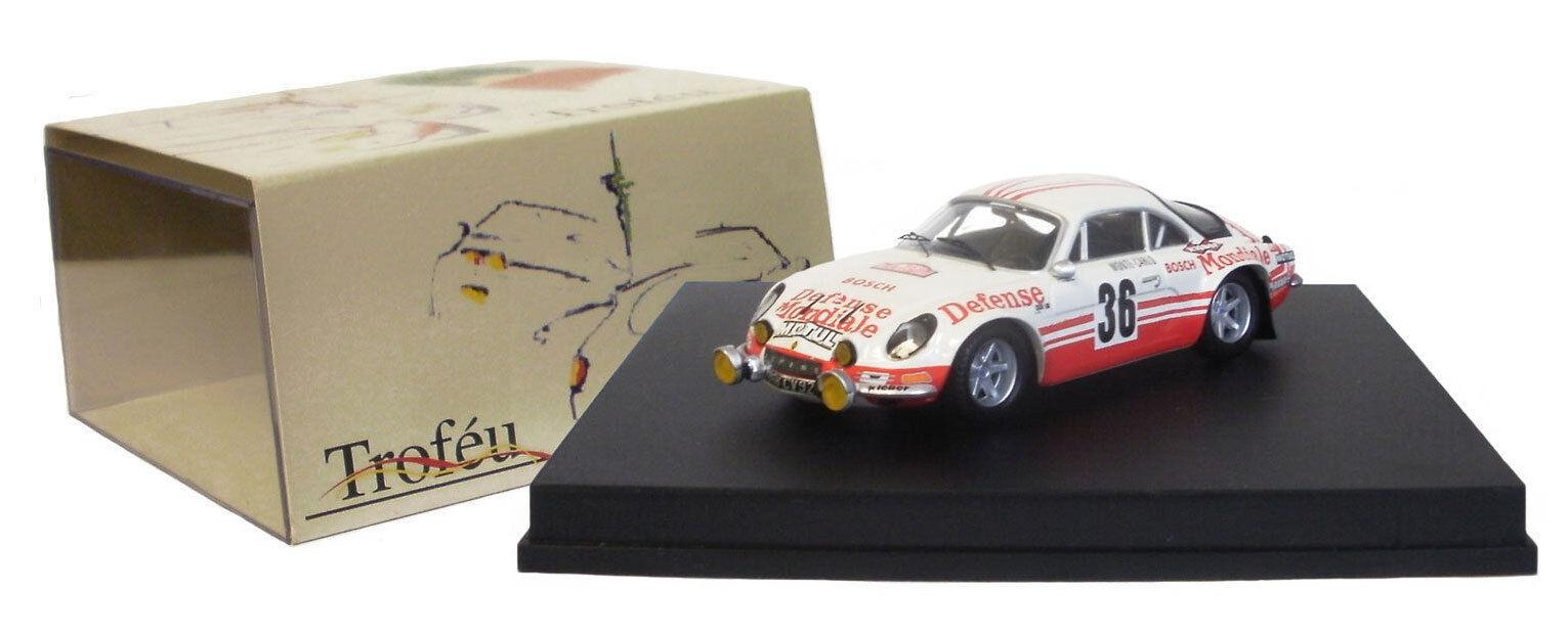 Trofeu 814 Alpine Renault A110 1800S Monte billo Rally 1973 –B Wollek 1 43