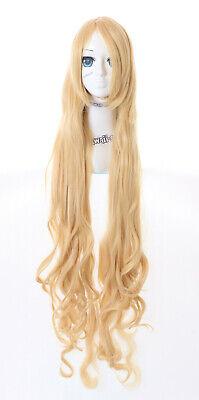 Glorioso Pl-120-1 Bionda Riccioli 120cm Lungo Elfi Lolita Curl Anime Cosplay Parrucca Wig- Luminoso E Traslucido Nell'Apparenza