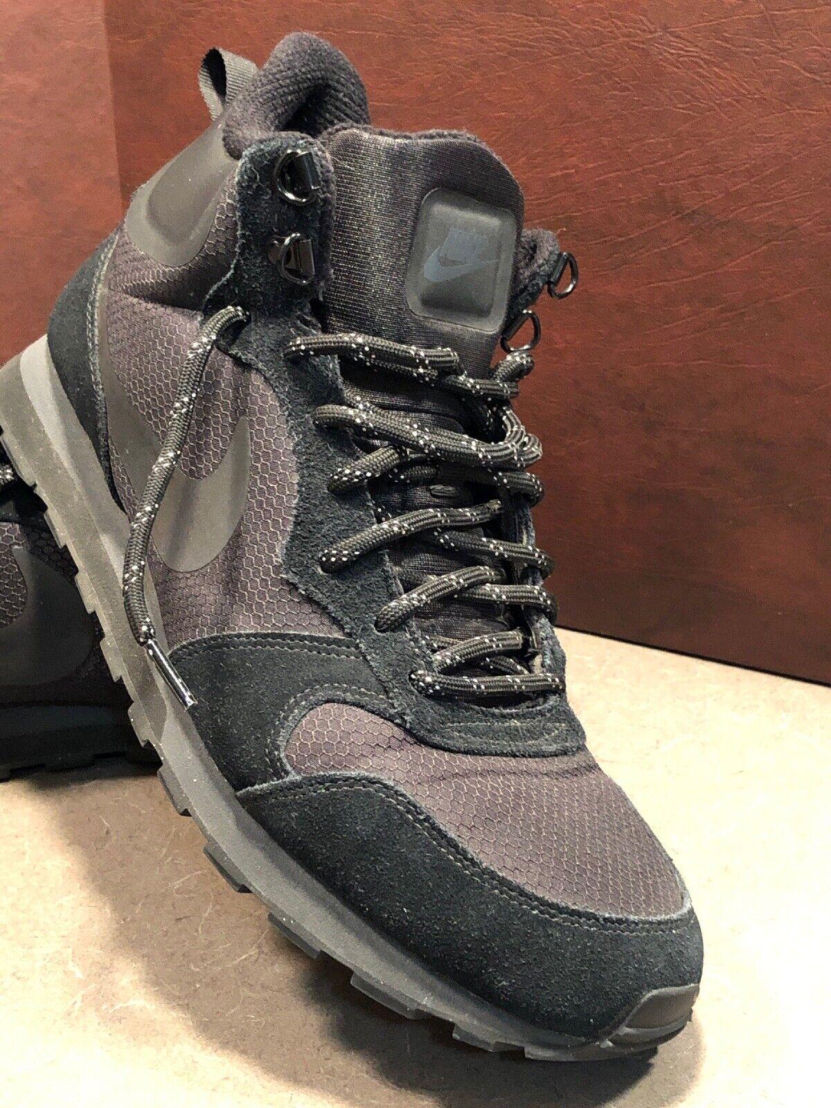 Nike Men MD Runner 2 Mid Premium Sneakerboots 844864 004 SIZE 12 Black