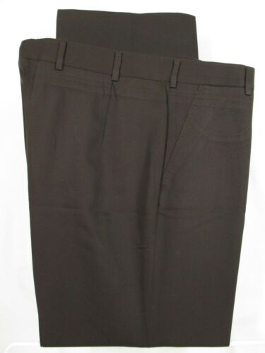 Belvest Mens Brown Flat Front Wool Dress Pants 34R