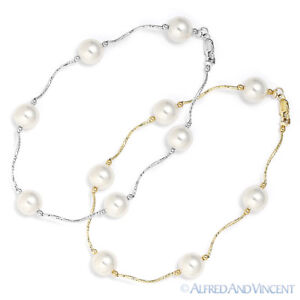 8mm-White-Freshwater-Pearl-Ladies-Beaded-Bracelet-in-14k-Yellow-or-White-Gold