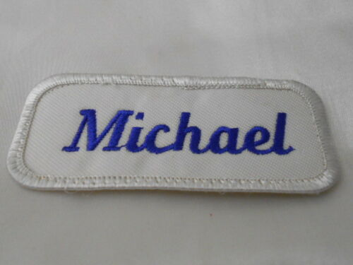 MICHAEL USED EMBROIDERED VINTAGE SEW ON NAME PATCH TAG ASSORTED COLORS AVAILABLE