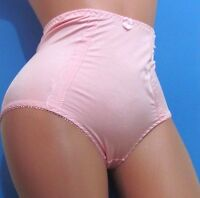Pink Smooth Girdle High Waist Soft Ruched Brief Sissy Panties M L Xl