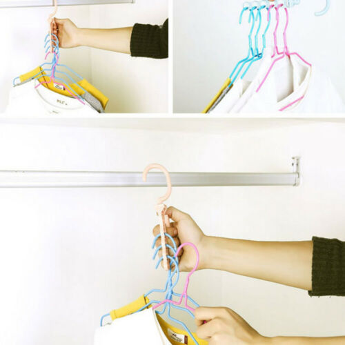 5pcs Multifunctional Household Practical Durable Hanger for Coat Clothes