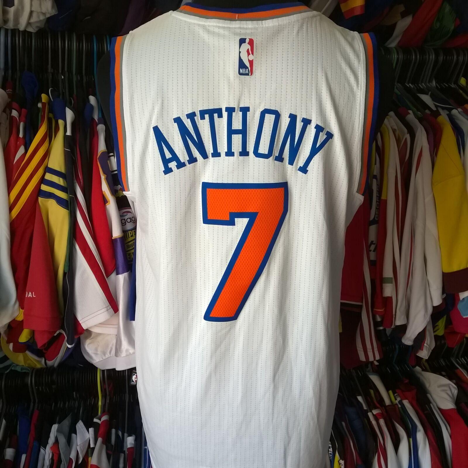 New York Knicks 2015 NBA Basketball Vest Vest Vest #7 Anthony Adidas Jersey Taille Adulte M ced164
