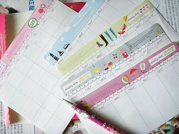 Month Week Plan Diary Memo Notepad Free Sticker Novelty