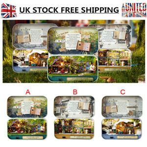 3 Themes DIY Mini Tin Box Theatre Dolls House Dollhouse Miniature Kits Toy