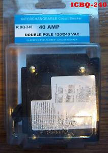 Thomas /& Betts TB240 Circuit Breaker 40 Amp New