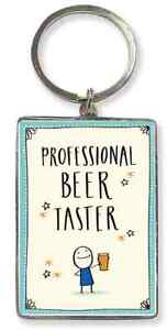 Professional Beer Taster KeyRing. Gift For Male. Fathers Day, Christmas Birthday