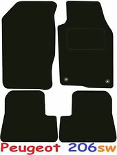 Peugeot 206sw Tailored Deluxe Quality Car Mats 1998-2005 Estate