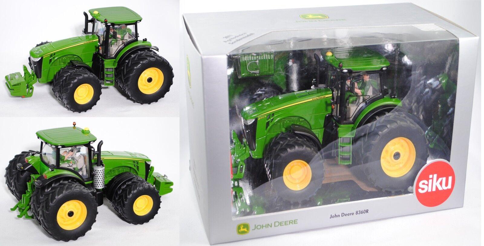 SIKU FARMER FARMER FARMER 3272 John Deere 8360r Tracteur à roues jumelées Spécial Modèle 1:32 | Nouveaux Produits  787340