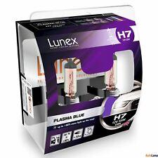 2x H7 Lunex PLASMA BLUE 477 12V 55W Car Headlight Halogen Bulbs PX26d 4200K