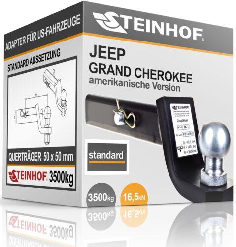 JEEP GRAND CHEROKEE LAREDO AHK ADAPTER für US-FAHRZEUGE 50x50mm STANDARD NEU