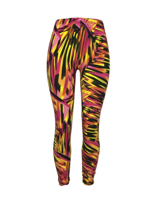 Lularoe Neon Colorful Shapes Print Leggings NEON Pink,yellow//orange Green OS