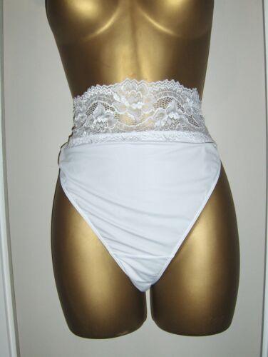 Nuevo M/&s Blanco Bandeau Alta Pierna Bragas tamaños muy bonita 20-22 sólo