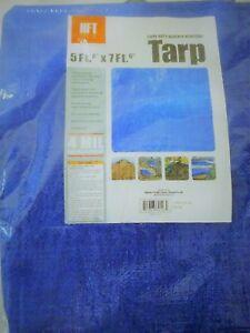 c42f4aaeec1b68 Tarp HFT 5 ft. 6 in. x 7 ft. 6 in. Blue All Purpose Weather ...