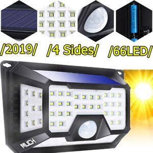 66-DEL-Lampe-Solaire-Detecteur-De-Mouvement-Exterieur-Securite-Jardin-Patio-Lampe-3-MODES-4-Cote