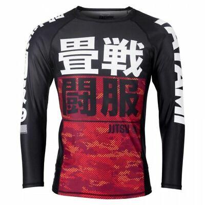 TATAMI Fightwear Mens Renegade Red Camo Long Sleeve MMA BJJ Rash Guard