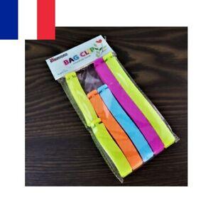 6pcs Clip Pince Ferme Sachet Facile Emballage Sachet Conservation 7 - 14 cm