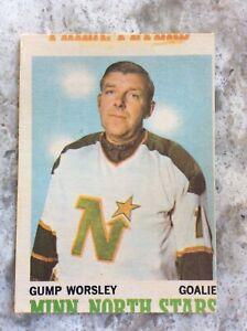 1970 71 OPC  #40 GUMP WORSLEY VG-EX MINNESOTA NORTH STARS HOCKEY CARD Ref 89
