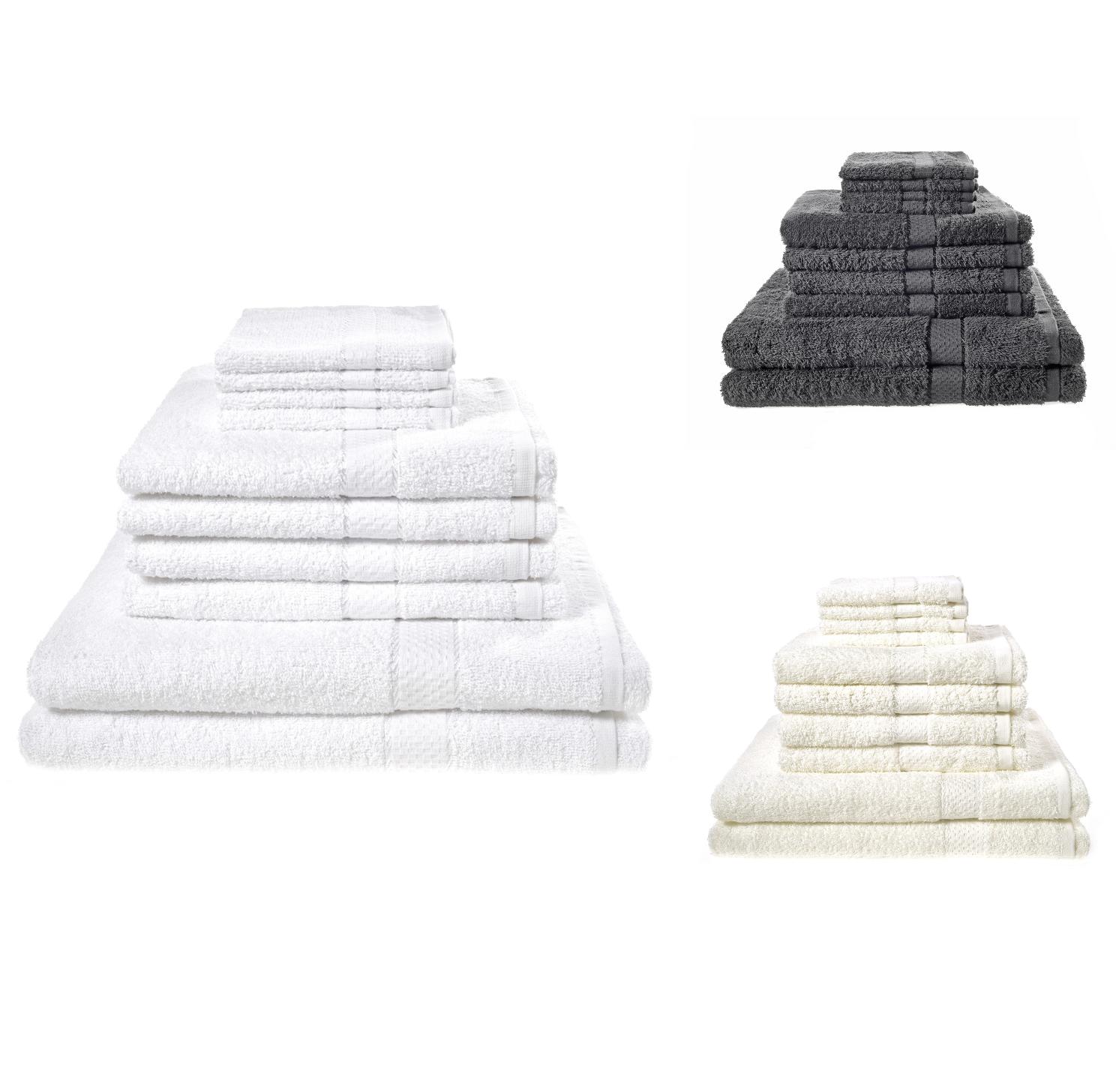 FACE HAND BATH BATHROOM TOWELS 10 PIECE TOWEL BALE SET 100/% EGYPTIAN COTTON