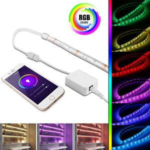 16-4ft-Smart-WiFi-RGB-LED-Light-Strip-Lamp-APP-Remote-Control-Alexa-Google-Home