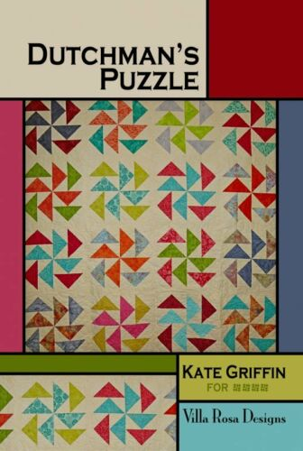 Layer Cake Friendly Dutchman/'s Puzzle pattern card by Villa Rosa Designs