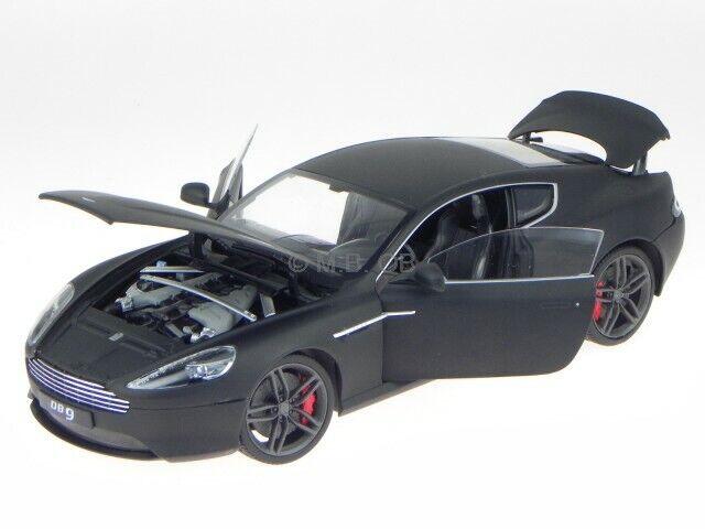 la red entera más baja Aston Martin DB9 cupe 2010 2010 2010 matt negro coche en miniatura 18045 Welly 1 18  venta al por mayor barato