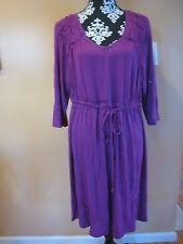 Lane Bryant casual 3/4 sleeve V neck purple dress plus size 18/20.