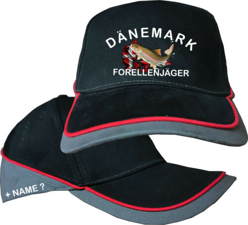 Le Danemark truites Motif Camouflag Angler Pêche Basecap Casquette De Baseball Casquette 66