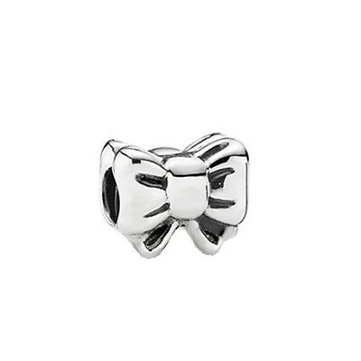 Pandora Charm Bow Charm Perfect Gift 925 Sterling Silver ALE Authentic 791204