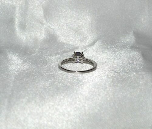 1.08 CT NATUREL Lavande Améthyste Taille 8 Cocktail Ring