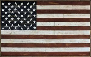 Image Is Loading Rustic Reclaimed BarnWood Large American Flag Wall Art