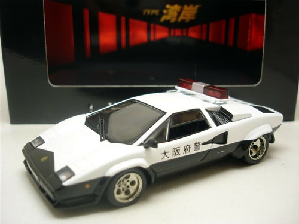 IXO 1 43 LAMBORGHINI COUNTACH 5000QV voiture de police Type Gulf Coast japan limited