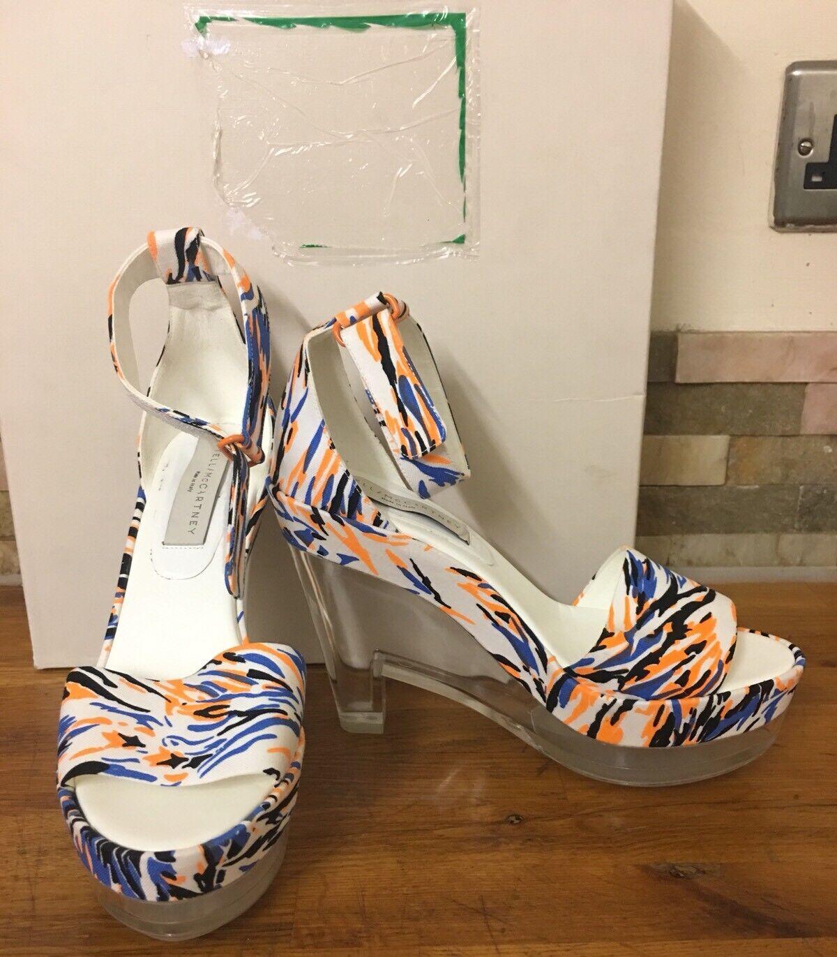 STELLA MCCARTNEY Multicolour Perspex Heeled Sandals Size UK 6 EU 39