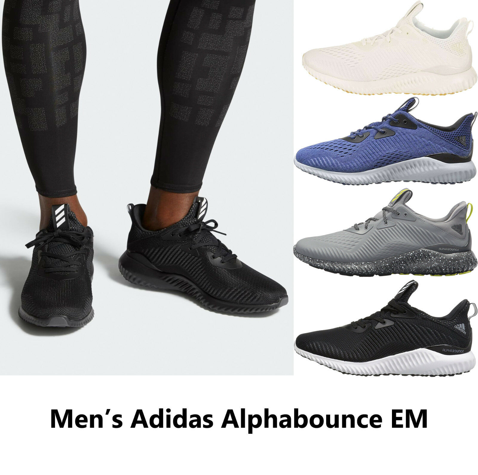Mens ADIDAS ALPHABOUNCE EM Running shoes Mens Sneakers NEW