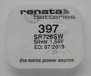 Original-NEU-1-x-397-Renata-Uhr-Batterie-Silber-1-55v-sr726sw-07-2019-EXP