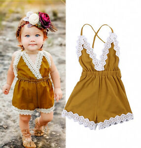 Lace-Toddler-Baby-Girl-Strap-One-piece-Romper-Jumper-Jumpsuit-Summer-Clothes