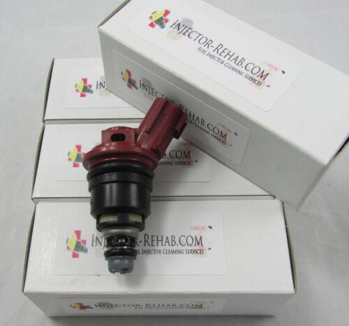 *Cleaned /& Tested* JECS OEM Fuel Injector Set SR20DE 2.0L KA24DE 2.4L Nissan 4