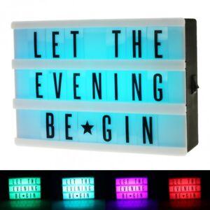 LED-Leuchtkasten-Leucht-Kasten-034-Colour-Mix-034-mit-Farbwechsel-und-inkl-Buchstaben