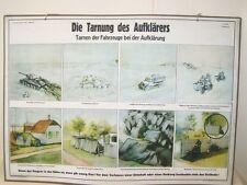Schautafel Lehrtafel der NVA DIE TARNUNG DES AUFKLÄRERS 10 auf Pappe aufgezogen