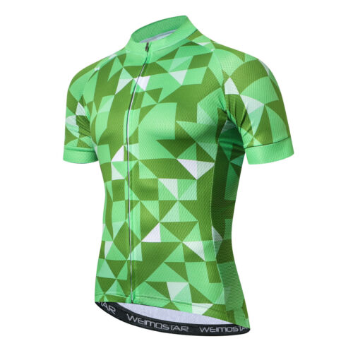 Weimostar Cycling Clothing Team Bike Triangle Jersey Racing Short Sleeve Tops