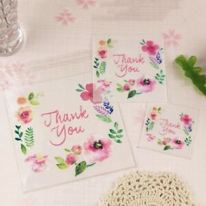 Image is loading 100pcs-Clear-Gift-Bags-Thank-You-Candy-Cookie-  sc 1 st  eBay & 100pcs Clear Gift Bags Thank You Candy Cookie DIY Self-adhesive ...