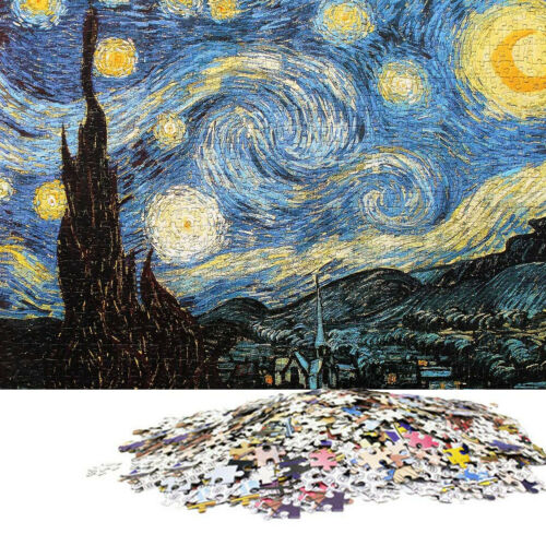 Starry Night Jigsaw Puzzles 1000 Pieces Kids Adults Educational Toy Game Gift