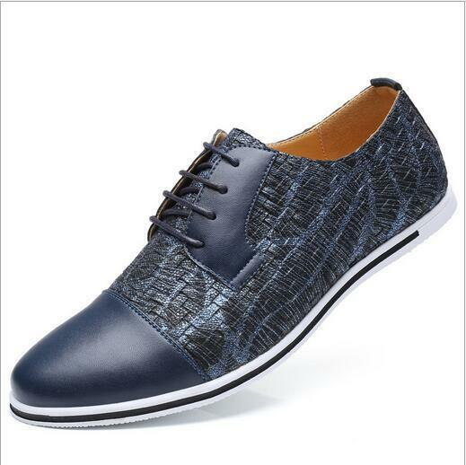 Para Hombre Ocio Low Top tendencia Colorido Colorido Colorido Con Cordones Cuero Zapatos Planos Suave Puntera Puntiaguda S a8e011