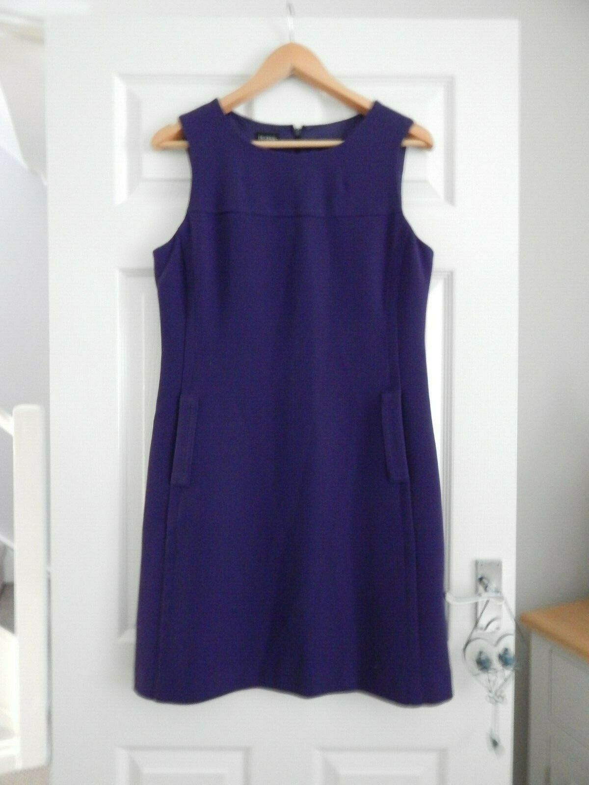 HOBBS PURPLE LINED DRESS 12