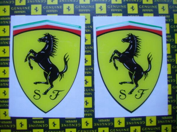 2 X Adesivi Sticker 3d Ferrari Gross Scudo Official Decal 102 X 74mm Adhesivo