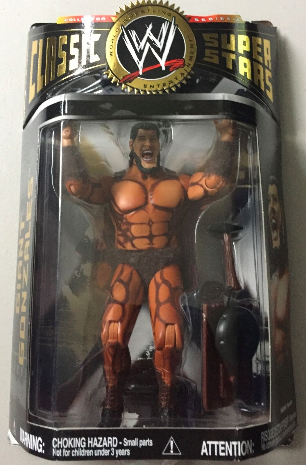 WWF WWE Classic Superstars GIANT GONZALES REAL FUR  VARIANT Wrestling Figure